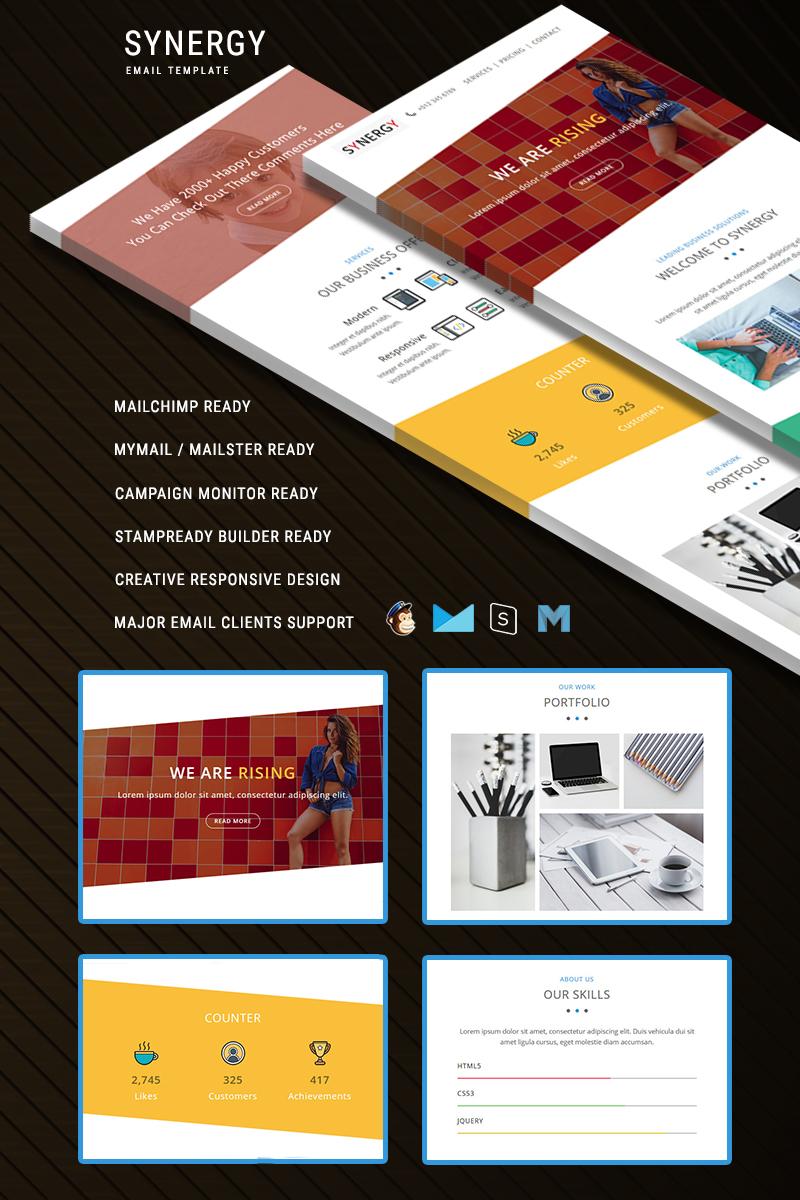 Responsivt SYNERGY - Responsive Email Newsletter-mall #64532 - skärmbild