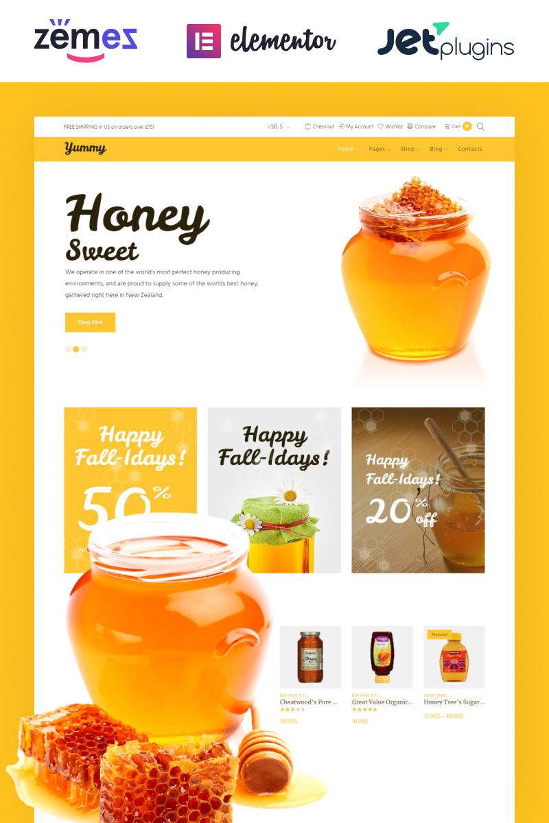Responsivt Yummy - Honey Store WooCommerce Theme WooCommerce-tema #64503
