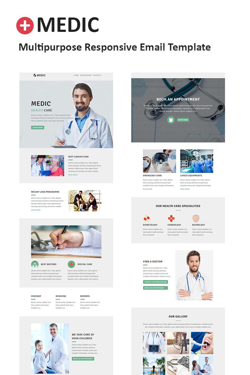 "Responzivní Newsletter šablona ""Medic - Multipurpose Responsive"" #64539"