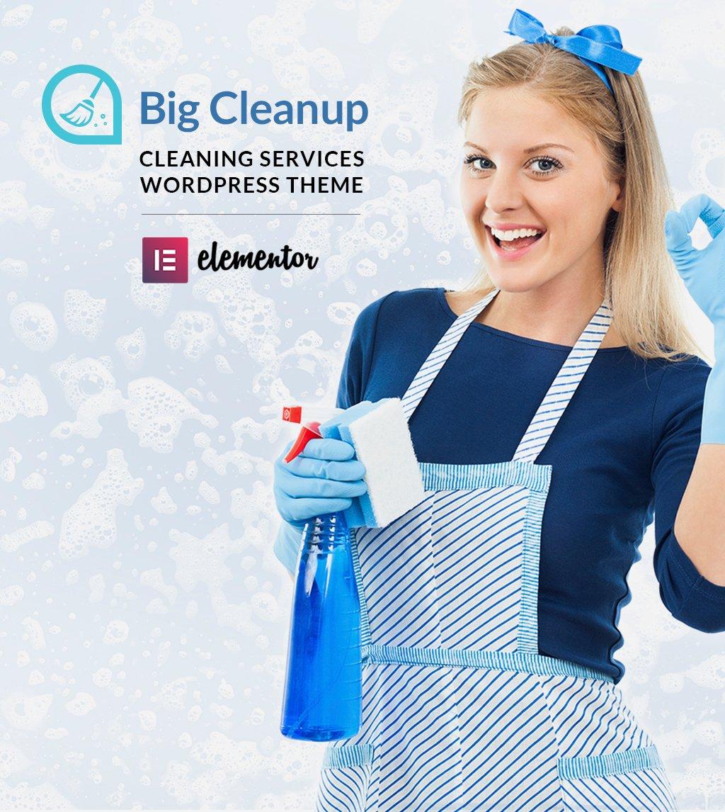 "Responzivní WordPress motiv ""Big Cleanup - Cleaning Services Responsive"" #64521"