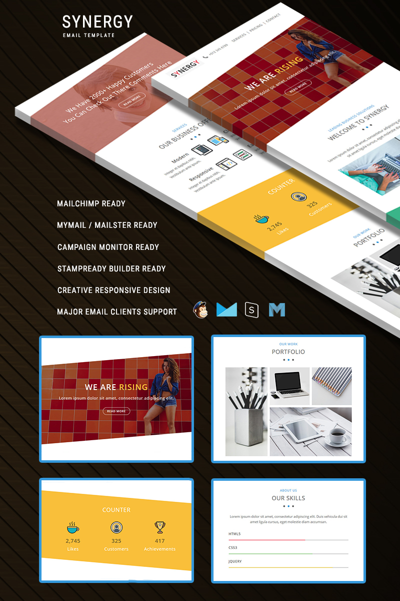 SYNERGY - Responsive Email Template de Newsletter №64532