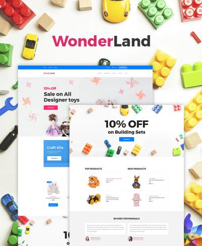 Responsive Tema WooCommerce #64529 para Sitio de  para Tienda de Juguetes