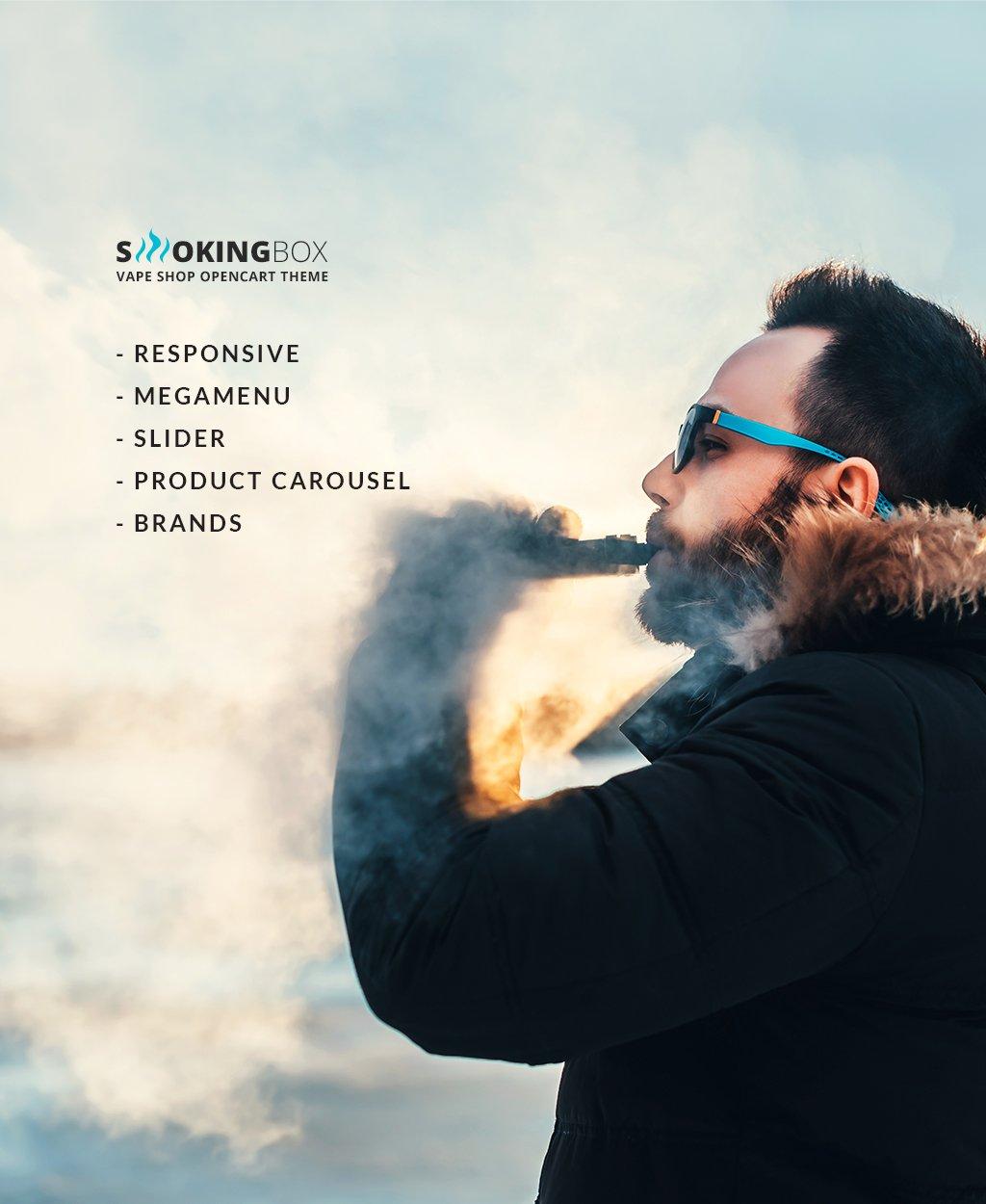 Tobacco Responsive OpenCart Template - screenshot