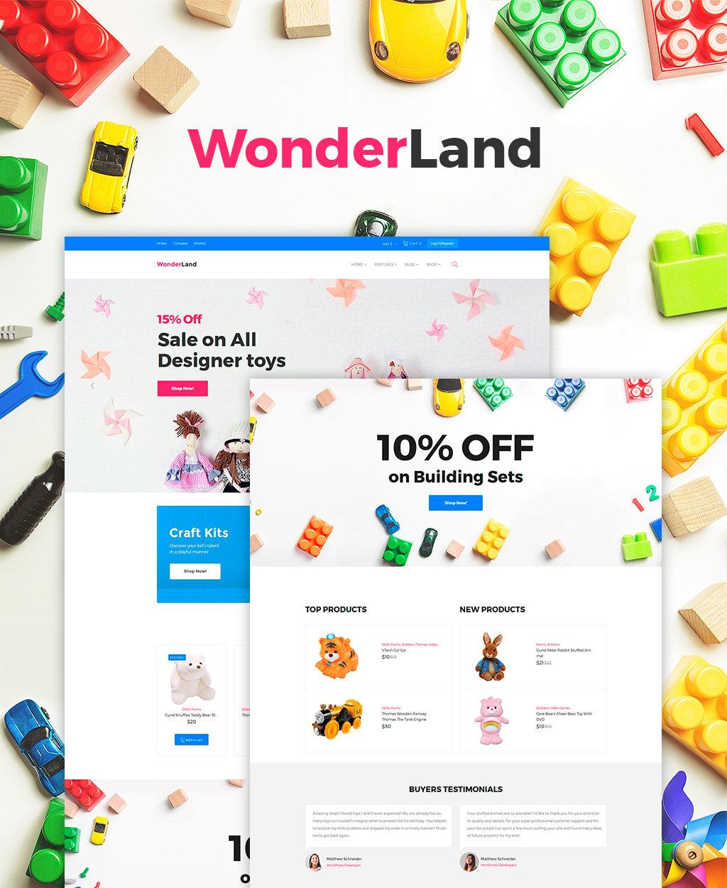WonderLand - Toys Store Responsive WooCommerce Theme