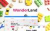 "WooCommerce Theme namens ""WonderLand - Toys Store Responsive"" Smartphone Layout 1"