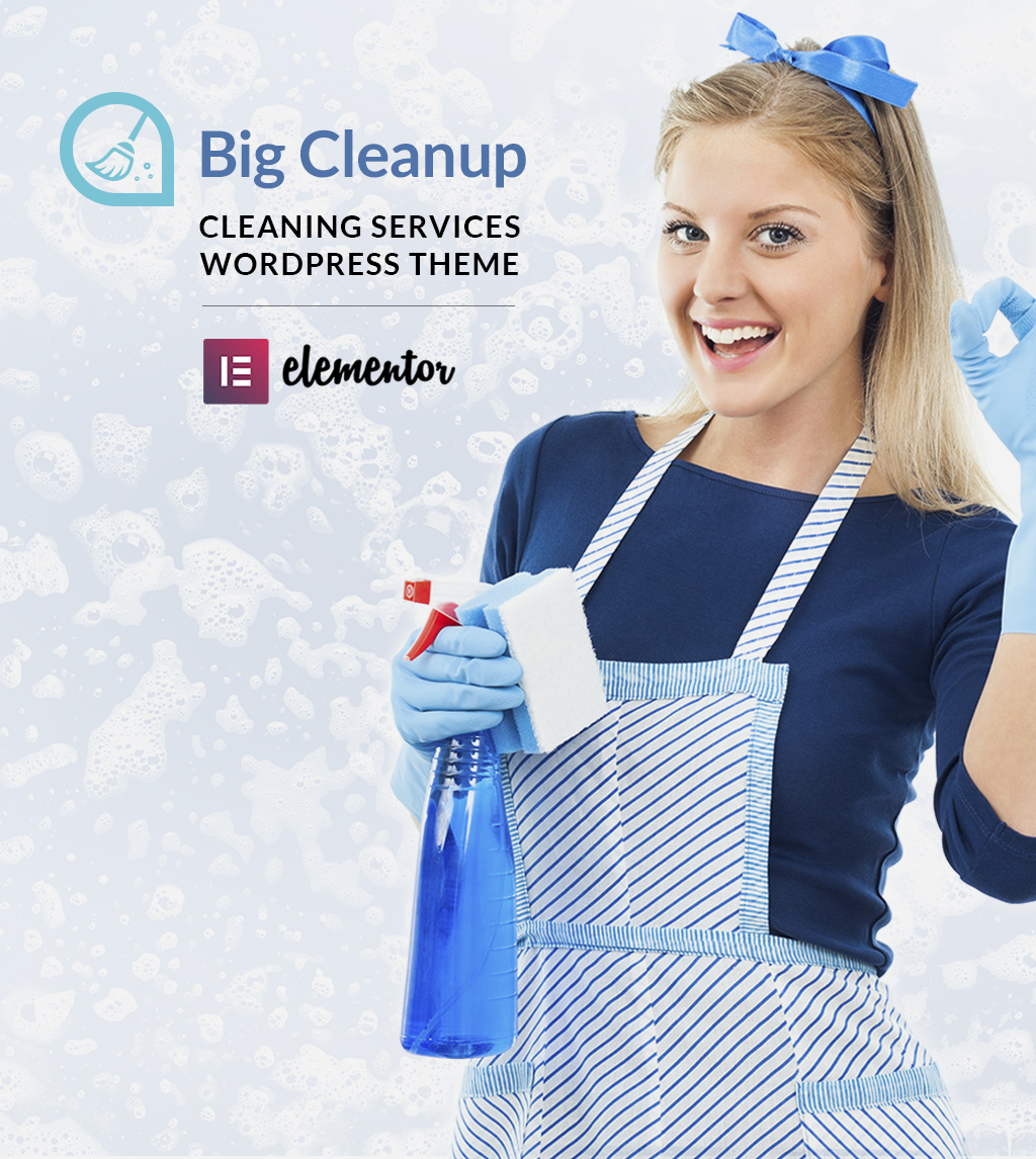 """WordPress Theme namens """"Big Cleanup - Cleaning Services Responsive"""" #64521"""