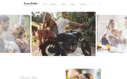Susan Parker - Lovestory Photographer Multipage Website Template