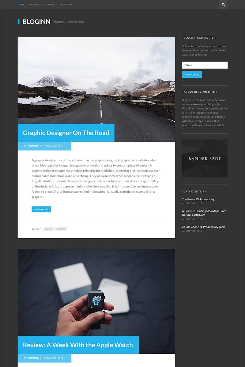 Website Template #64639 Personal Minimal Responsive Custom Website ...