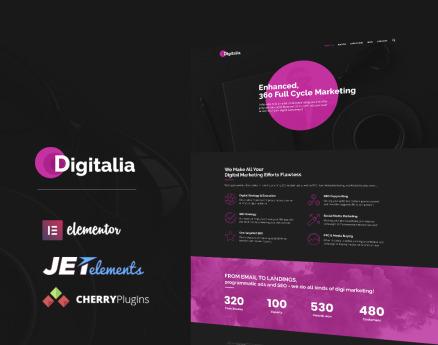 Digitalia - Digital Agency WordPress Theme