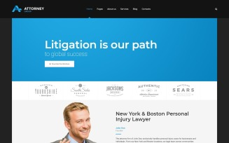 Attorney Group - Law Firm WordPress theme