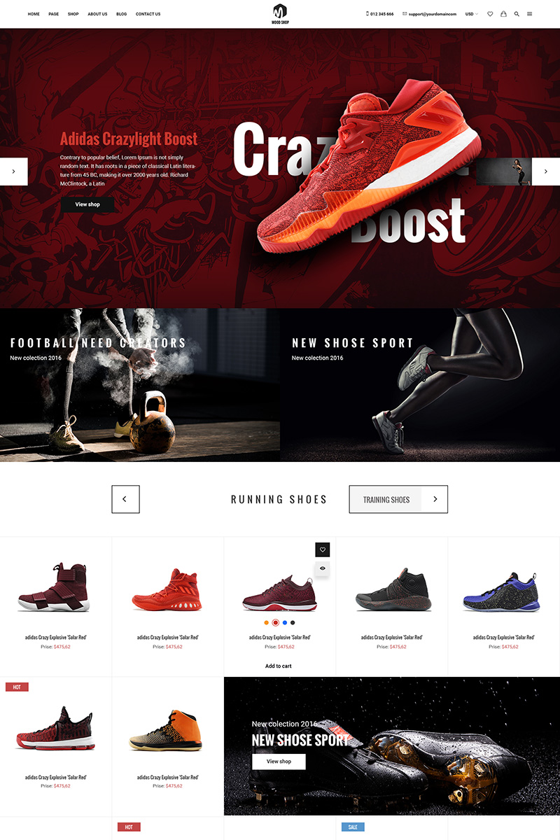 0f849befe5a03 Website Template #64682 Clean Creative Ecommerce Custom Website ...