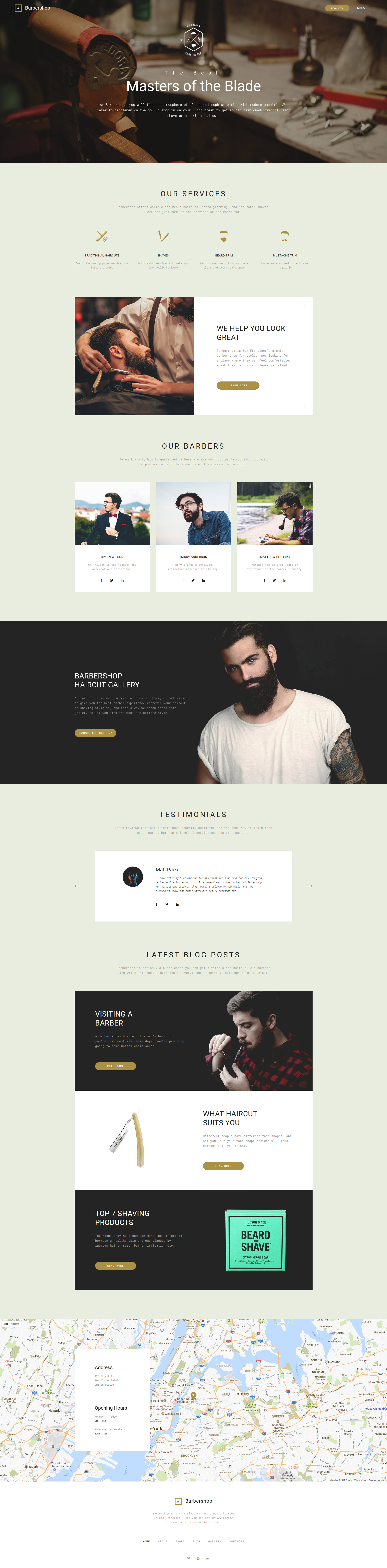 Адаптивный Joomla шаблон №64638 на тему парикмахерская