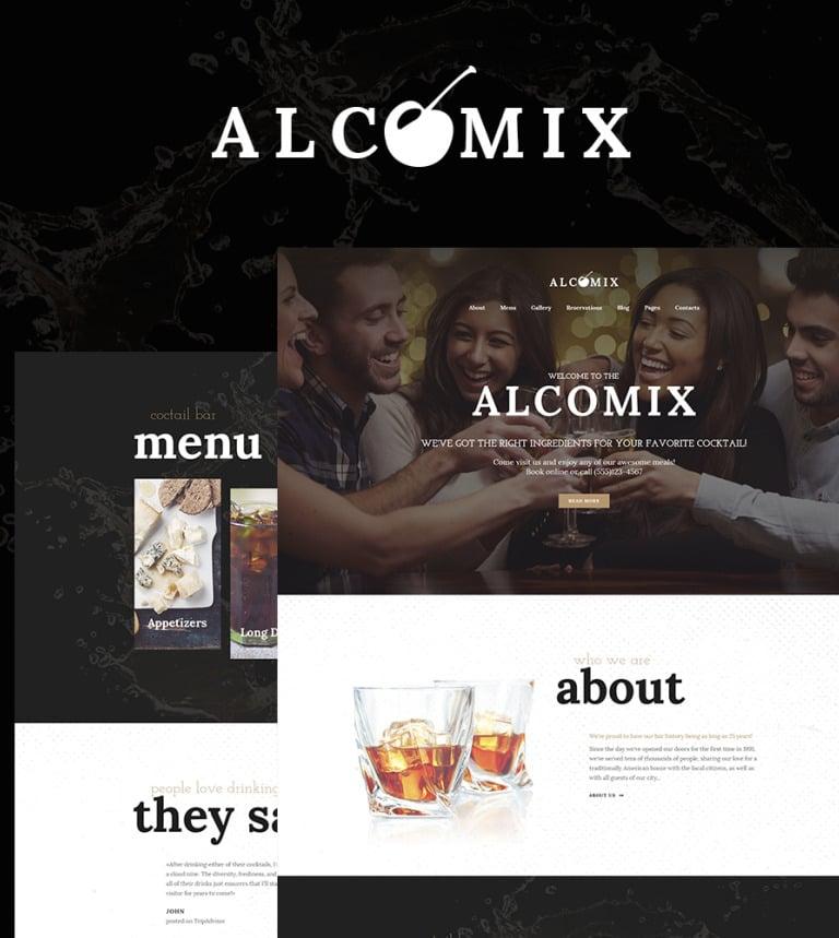 Alcomix - Cocktail Bar WordPress Theme