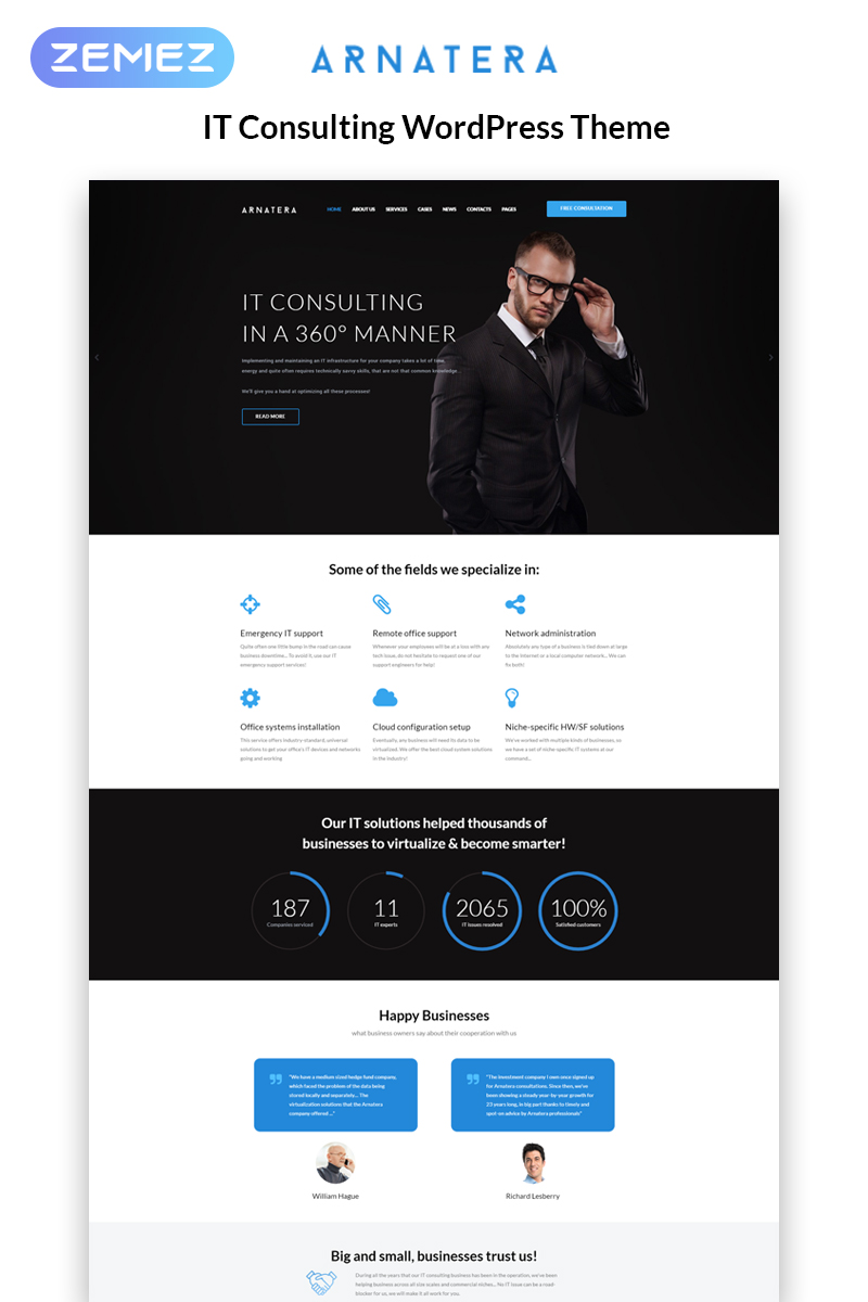 Arnatera - IT Consulting Responsive WordPress Theme WordPress Theme