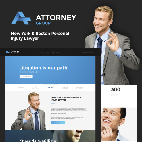 Attorney Group - HTML5 WordPress Template