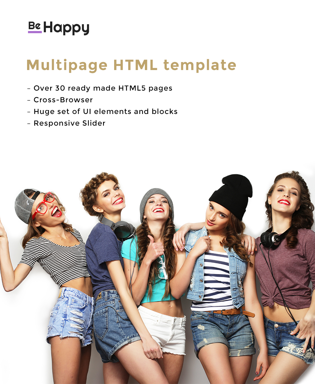 Be Happy - Health Magazine Multipage Website Template