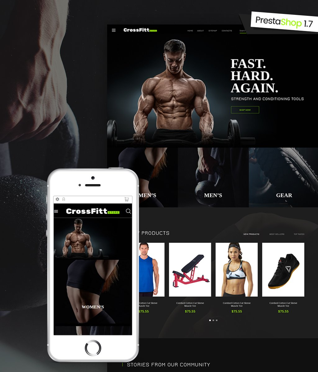 """Crossfitt Store"" Responsive PrestaShop Thema №64600 - screenshot"
