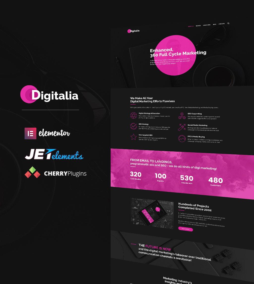 """Digitalia - Thème WordPress pour agence numérique"" thème WordPress adaptatif #64661 - screenshot"