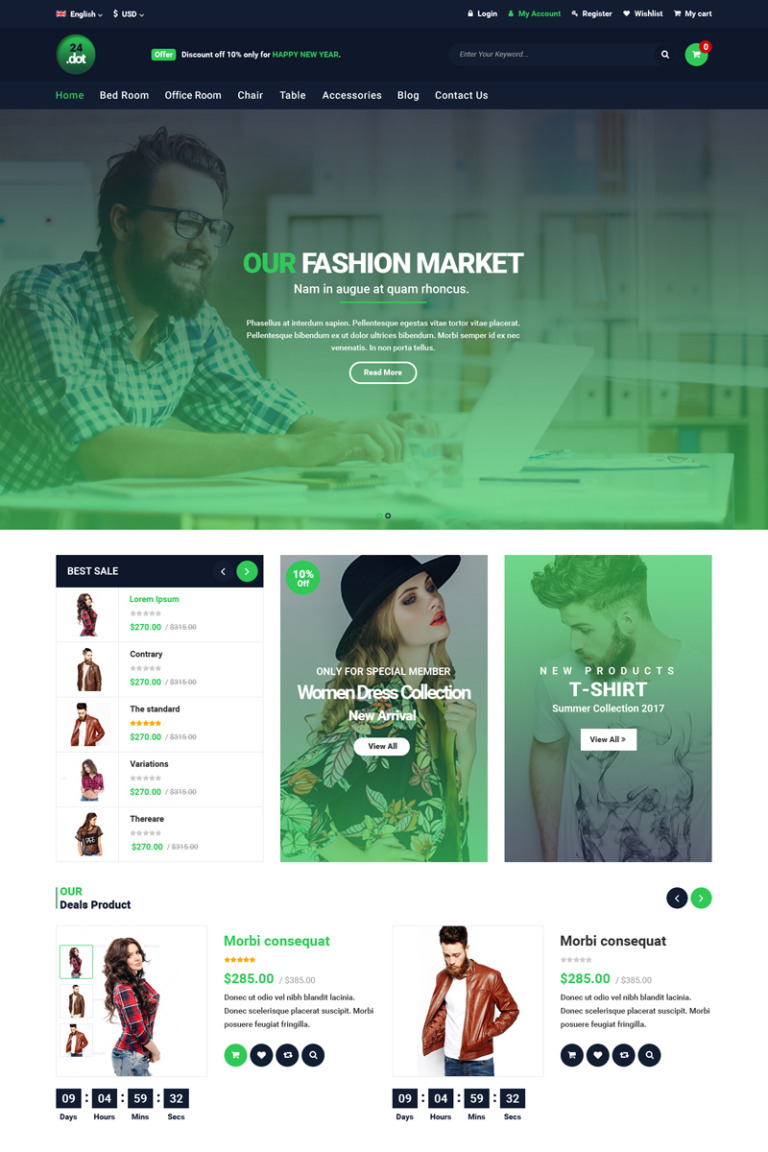 24Dot - eCommerce PSD Template New Screenshots BIG