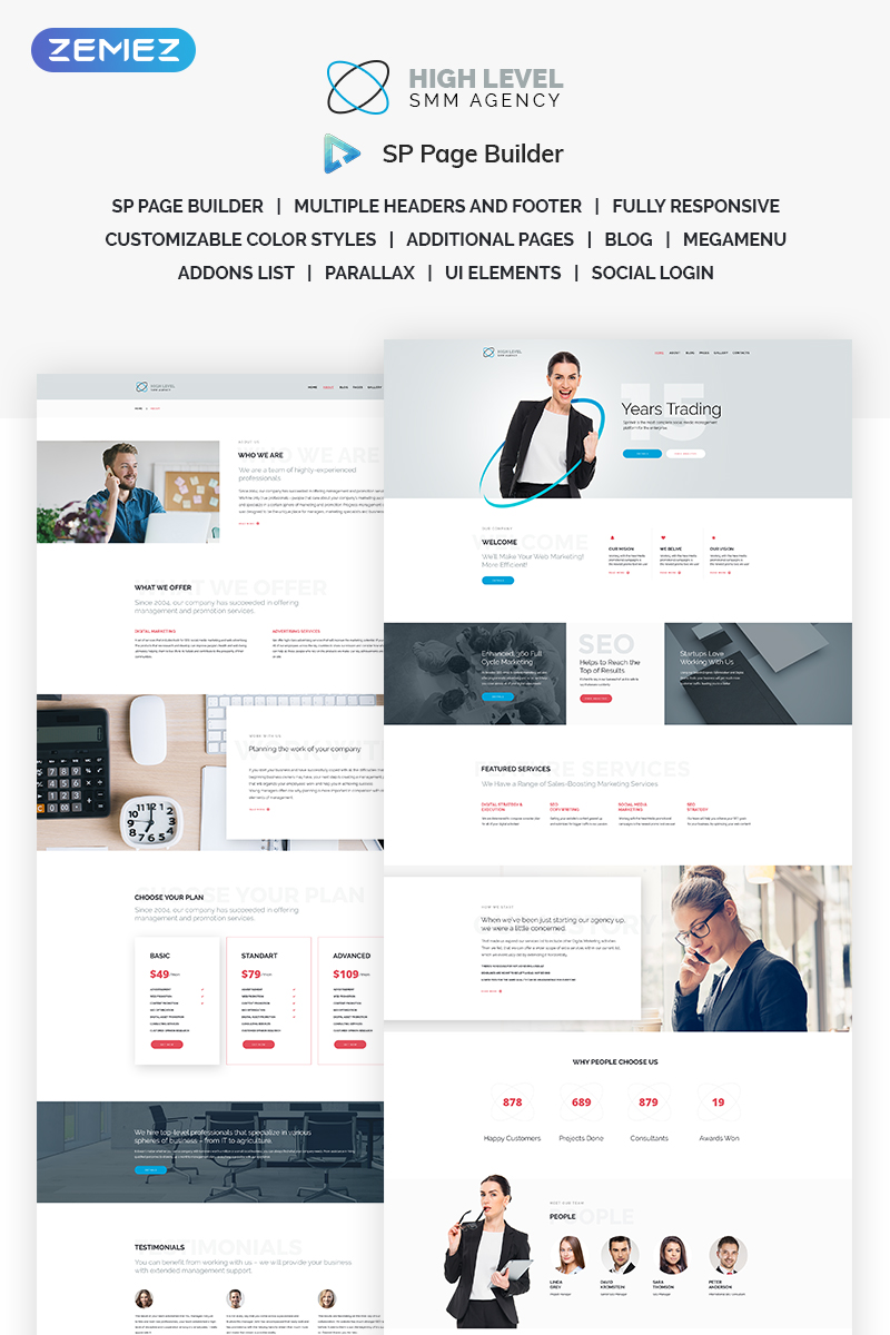 High Level - SMM Agency Joomla Template - screenshot