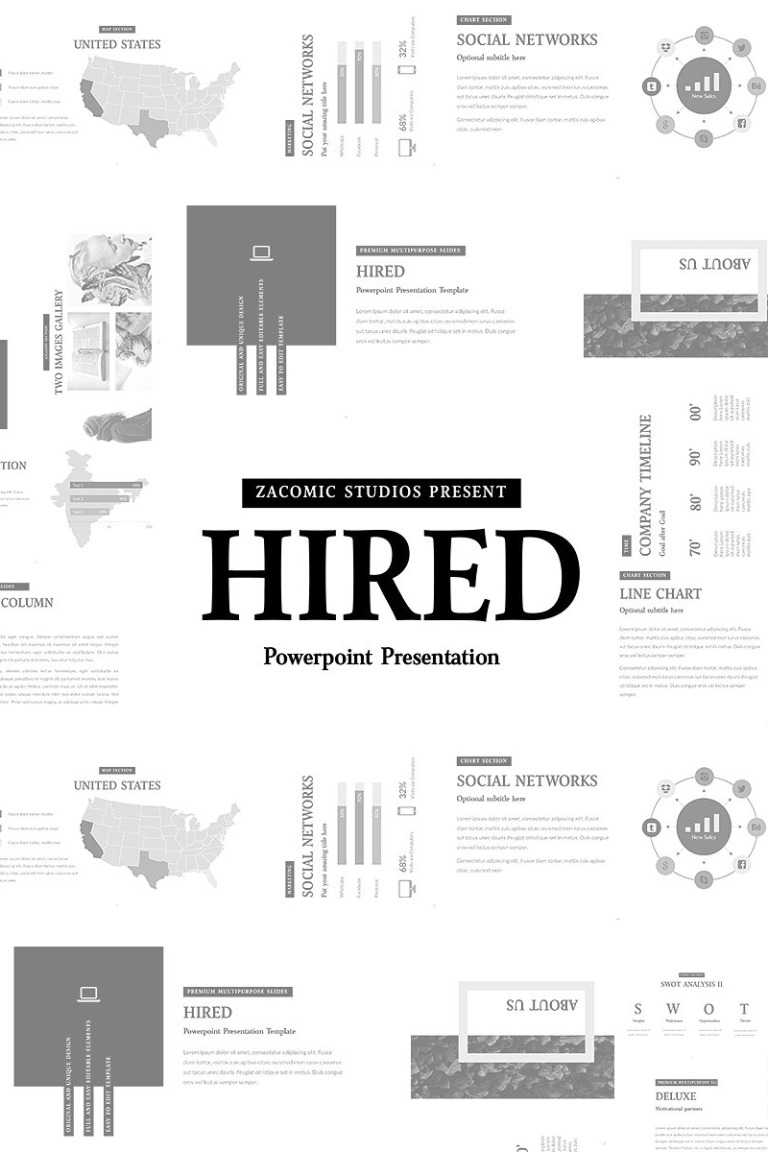 Hired - PowerPoint Presentation Template New Screenshots BIG
