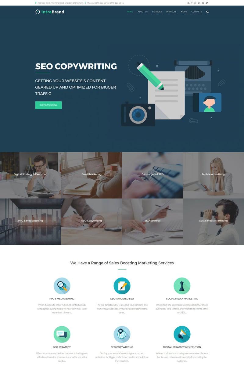 Intrabrand - SEO & Digital Marketing Agency Premium Drupal Template - screenshot