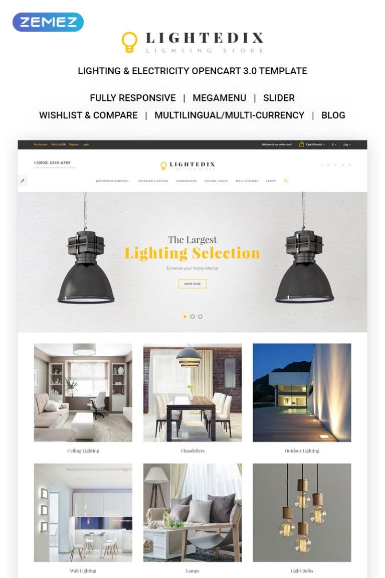 Lighting & Electricity Responsive OpenCart Template New Screenshots BIG