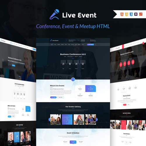Live Event - Landing Page Template based on Bootstrap