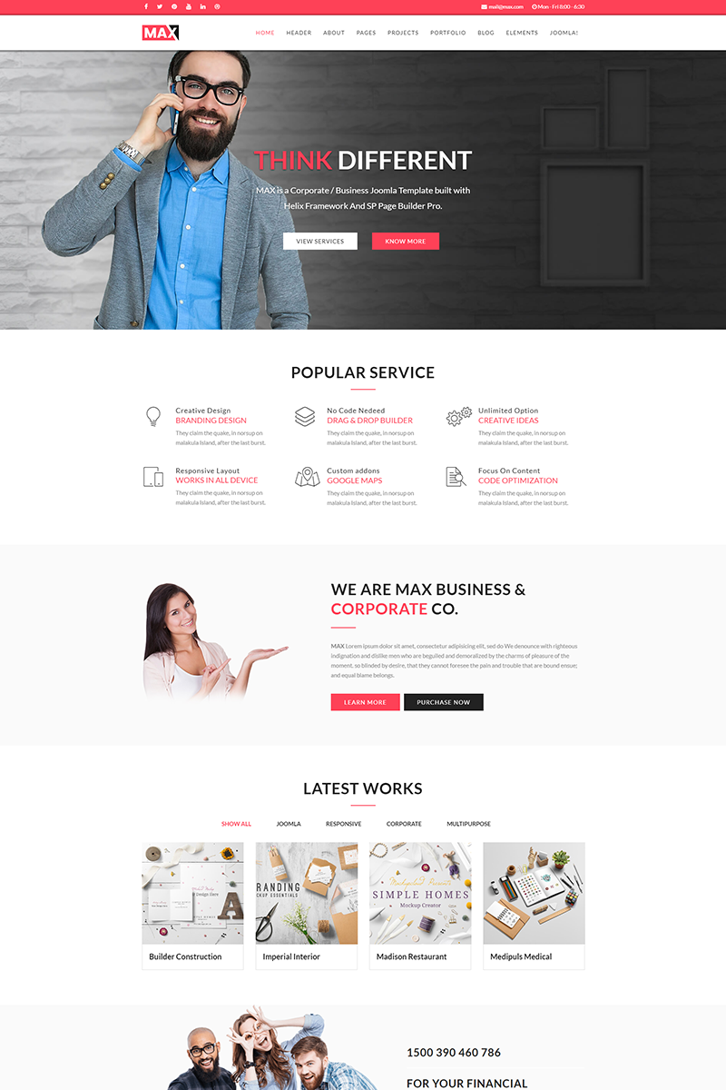 Max - Business Joomla Template