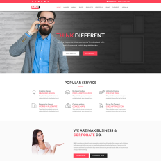 Outsourcing company responsive joomla template 46838 max business responsive joomla cheaphphosting Images