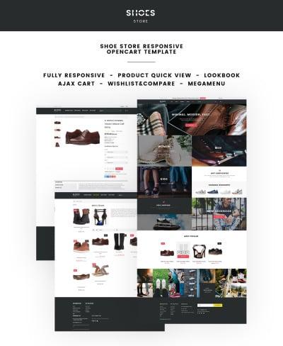 Shoe Store Responsive Tema OpenCart