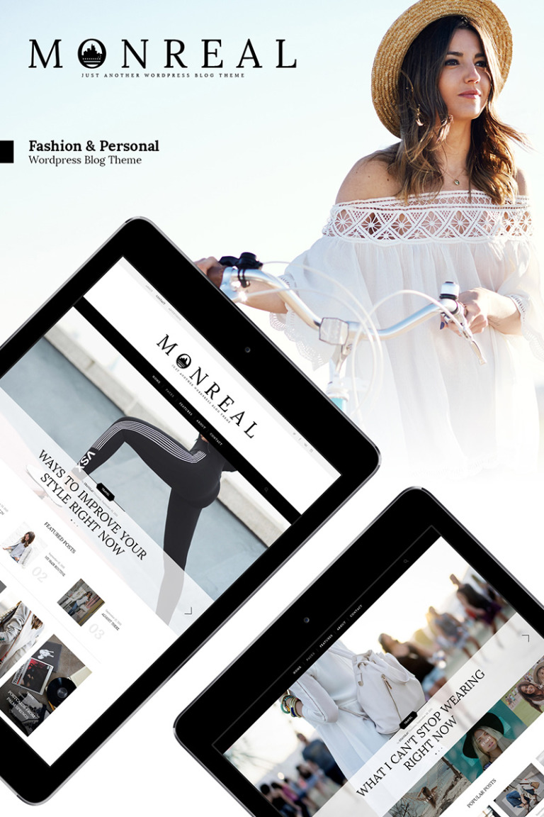 Monreal - Fashion Blog WordPress Theme New Screenshots BIG