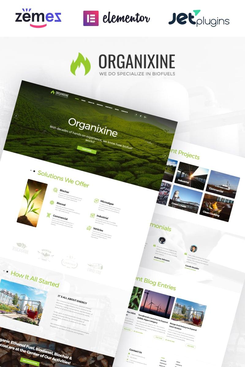 Organixine - Biofuel Company WordPress Theme - screenshot