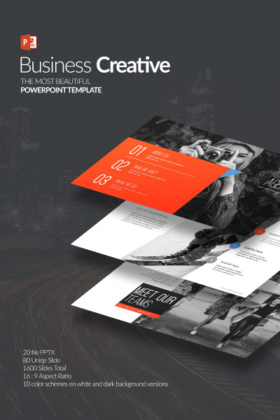 Plantilla PowerPoint Creativa para Negocio #64617