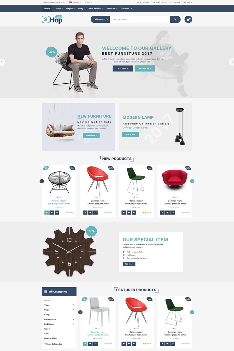 PSD шаблон №64610 на тему модный магазин - скриншот