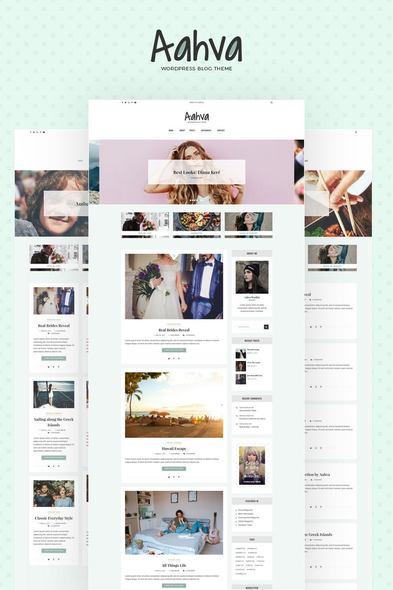 Responsivt Aahva WordPress Blog Theme WordPress-tema #64690 - skärmbild