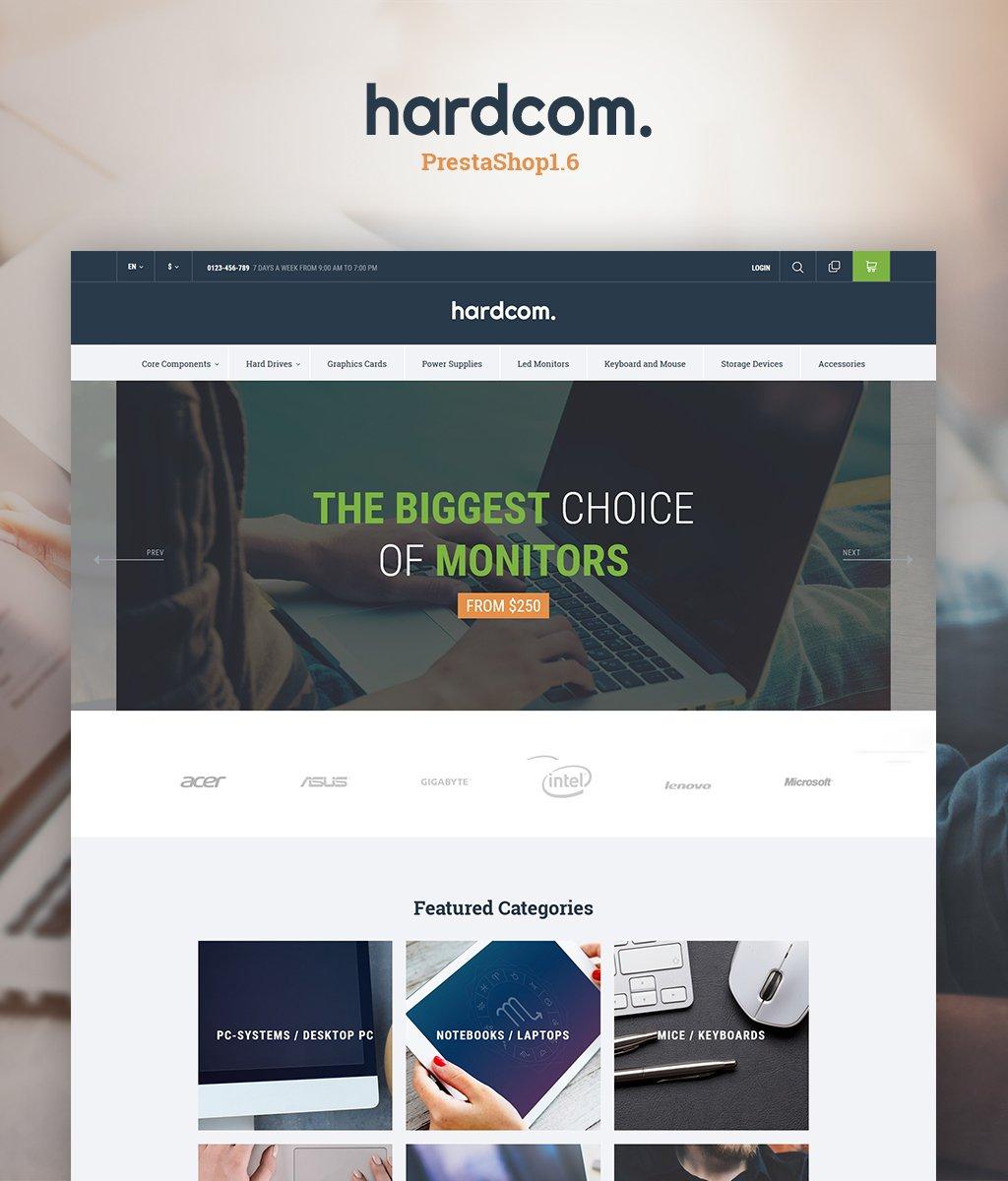 Responsywny szablon PrestaShop Hardcom #64654