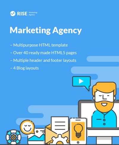 Marketing Agency Responsive Šablona Webových Stránek