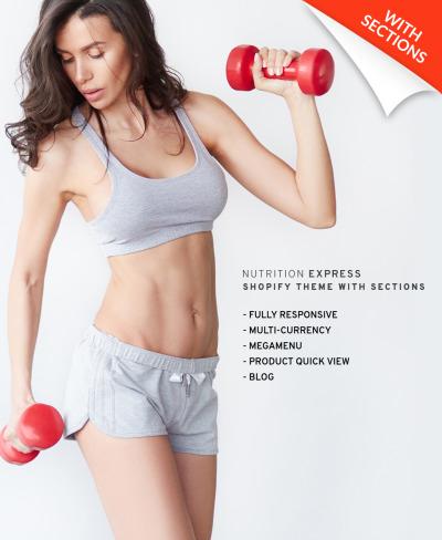 Nutrition Store Responsive Shopify Motiv