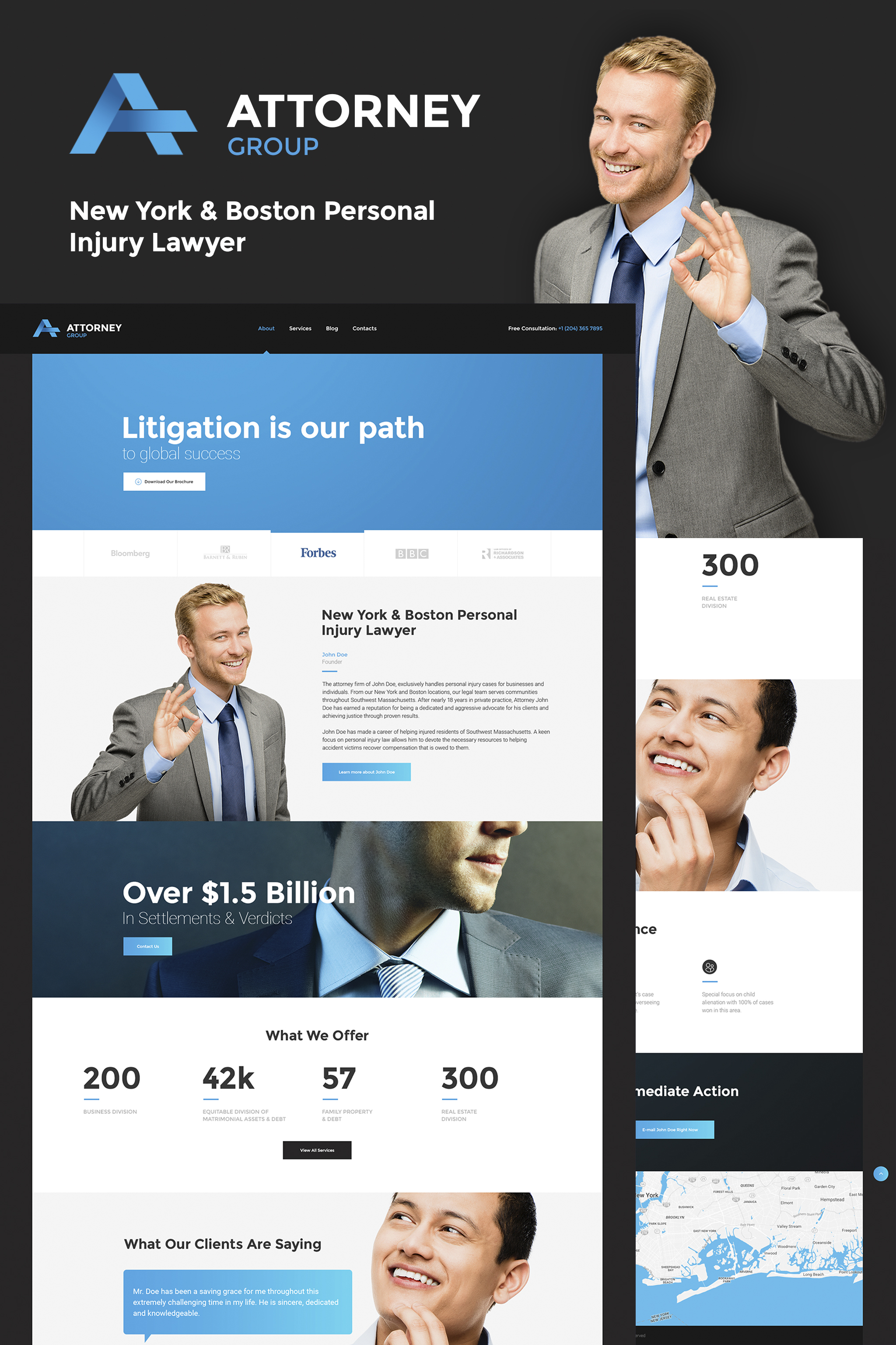 "Responzivní WordPress motiv ""Attorney Group - Law Firm WordPress Theme"" #64662"