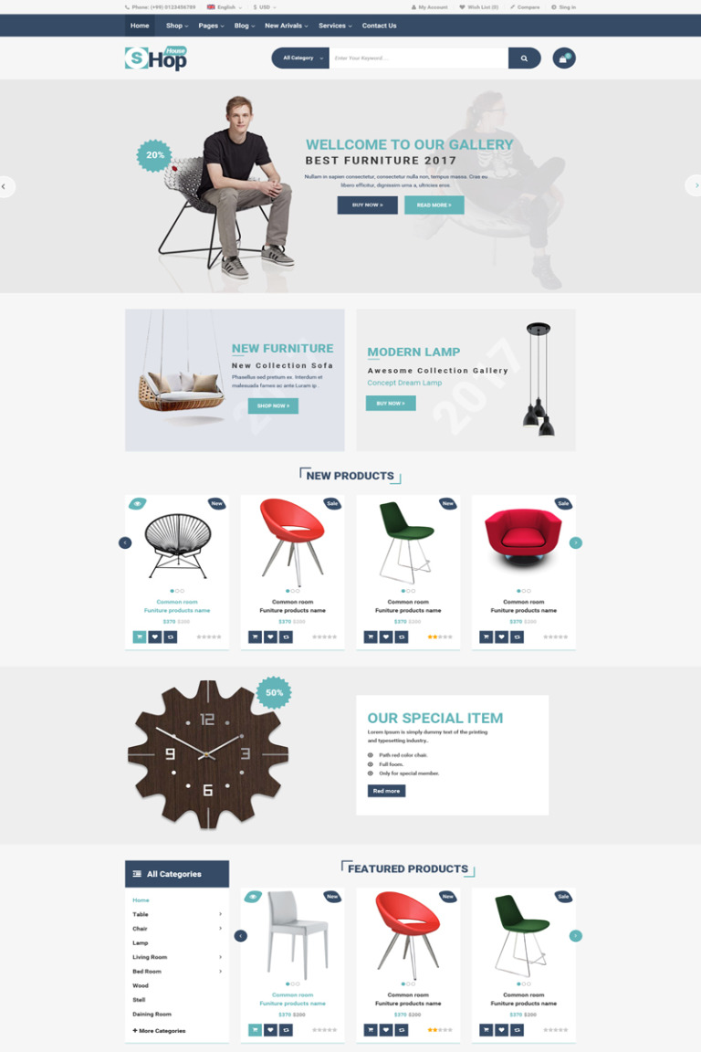 ShopHouse - eCommerce PSD Template New Screenshots BIG