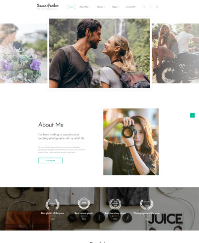 Susan Parker - Lovestory Photographer Multipage Website Template #64615
