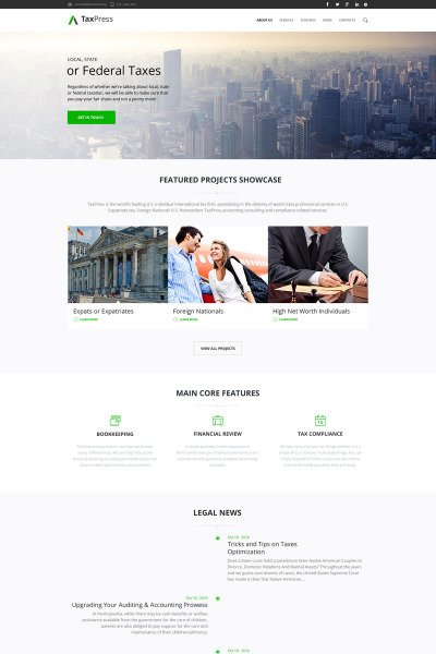 Tax advisor corporate business Drupal Template #64648