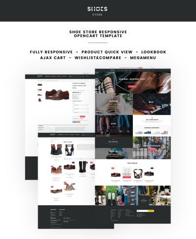 Thème OpenCart adaptatif  pour magasin de chaussures