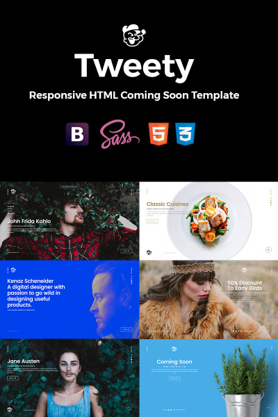 Tweety - Next Level Multi-Concept HTML5 Landing Page Template #64637