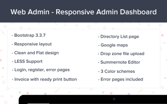 Webadmin - Responsive Dashboard