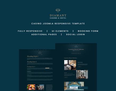 Diamant - Casino & Hotel Joomla Template