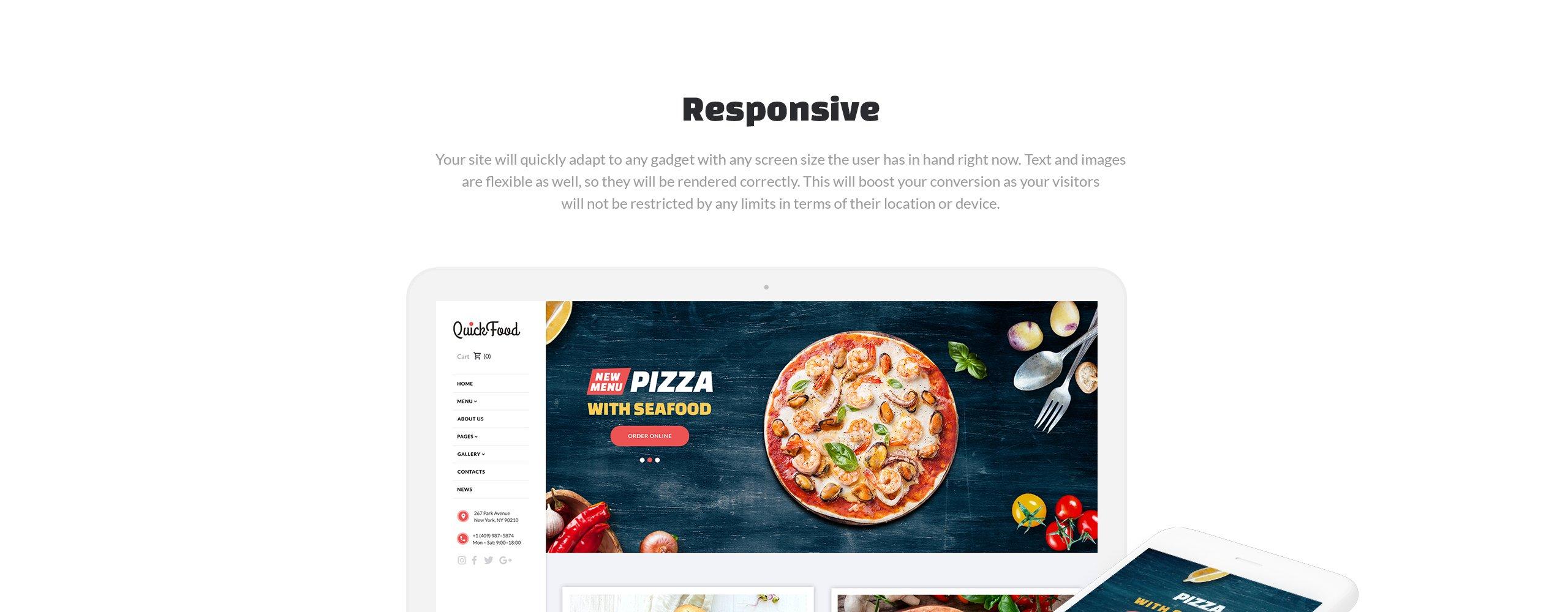 Quick Food  Responsive Joomla Template