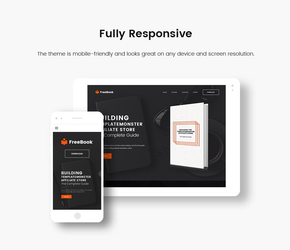 Website Design Template 64763 - landing education books startap company