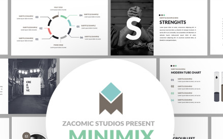 Minimix Powerpoint Presentation PowerPoint Template